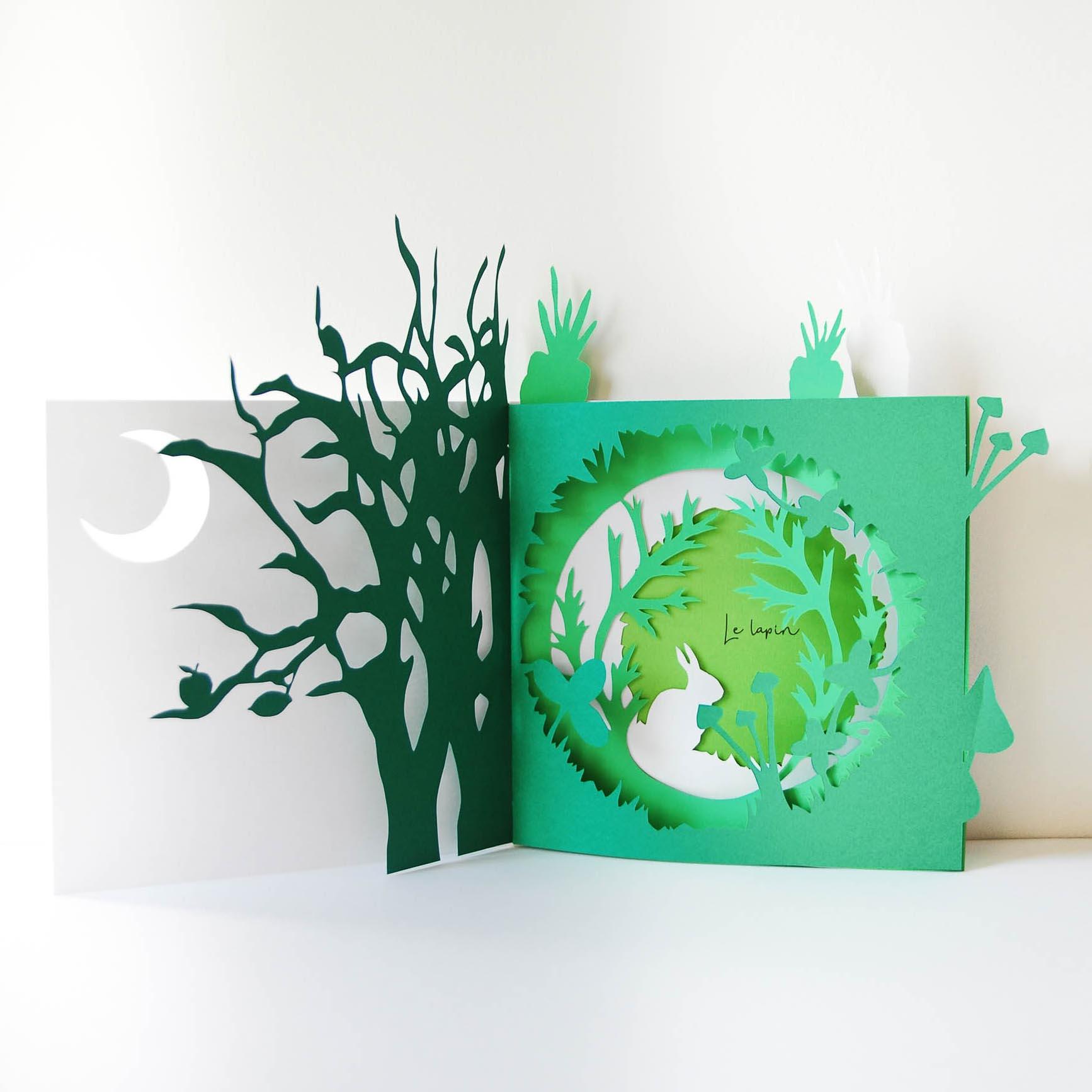Création de menus en paper art pour le Chef Davy Tissot sur le concours du Bocuse d'Or France 2019. Direction artistique de la paper artiste